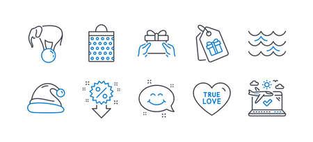Set of Holidays icons on white Illustration