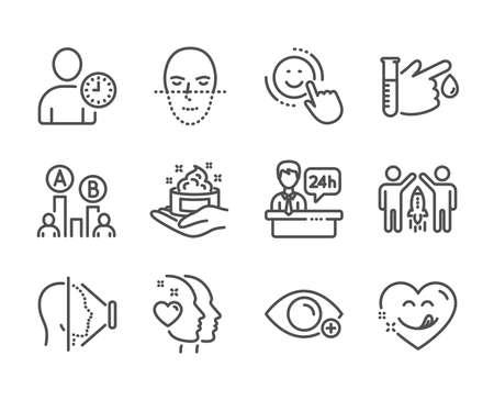 Set of People icons on white Ilustracja