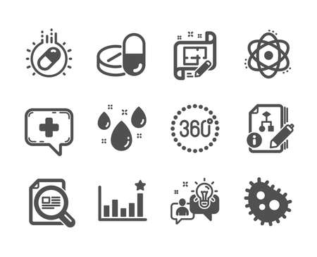 Set of Science icons on white