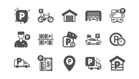 Parking icons on white