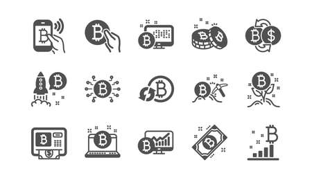 Cryptocurrency icons on white Ilustracja