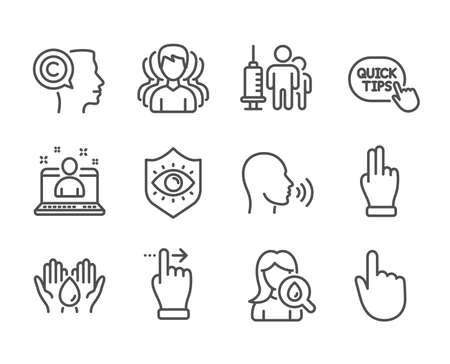 Set of People icons on white  イラスト・ベクター素材