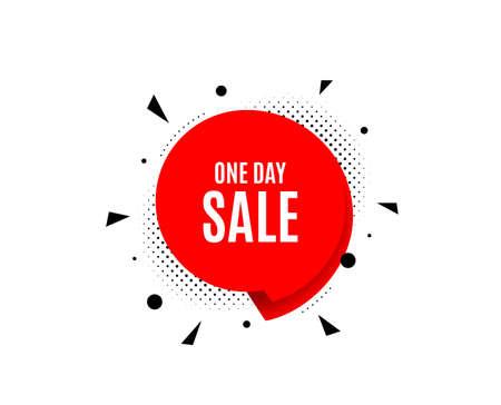 One day Sale. Banner badge, offer sticker. Special offer price sign. Illustration