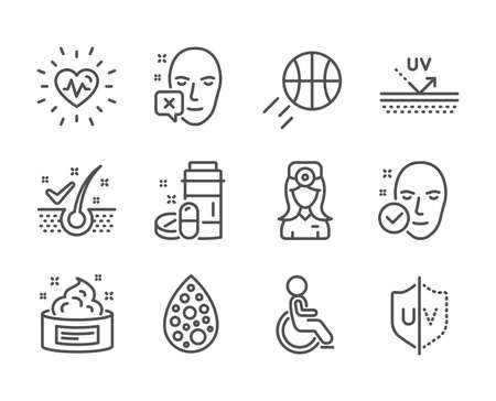 Set of Healthcare icons on white Illustration