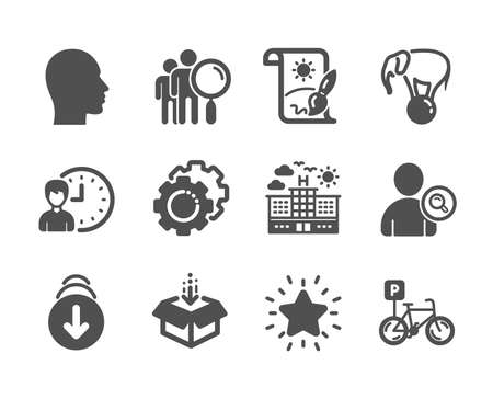 Set of Business icons on white  イラスト・ベクター素材