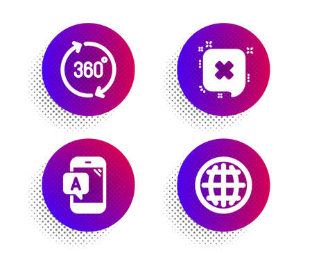 Ab testing, Reject and 360 degrees icons simple set.