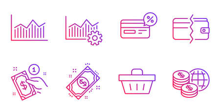 Payment method, Payment and Operational excellence line icons set. Ilustração