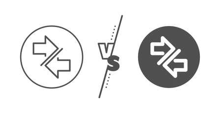 Symbole de pointes de flèches de communication sur blanc Vecteurs