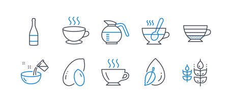 Set of Food and drink icons  on white