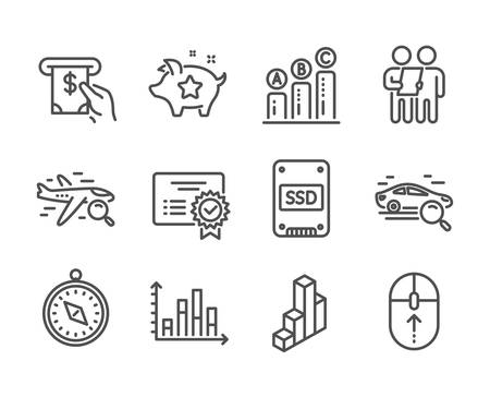 Set of Technology icons on white