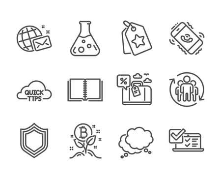 Set of Technology icons on white