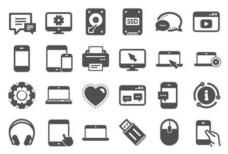 Mobile Devices icons on white 写真素材 - 129340387