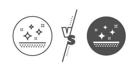 Cream care sign. Versus concept. Clean skin line icon. Cosmetic lotion symbol. Line vs classic clean skin icon. Vector