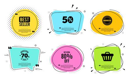 Get Extra 80% off Sale. Best seller, quote text. Discount offer price sign.