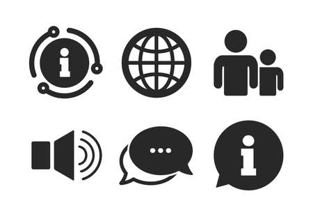 Group of people and speaker volume symbols.  イラスト・ベクター素材
