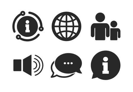 Gruppe von Personen und Lautsprecherlautstärkesymbolen.