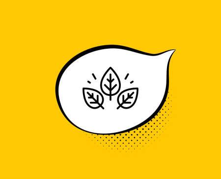 Organic tested line icon. Comic speech bubble. Bio cosmetics sign. 向量圖像
