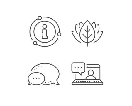 Friends chat line icon. Chat bubble, info sign elements.