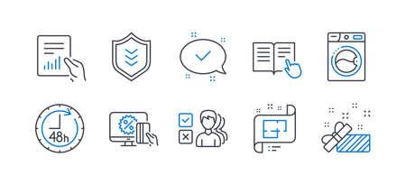 Set of Business icons Ilustração