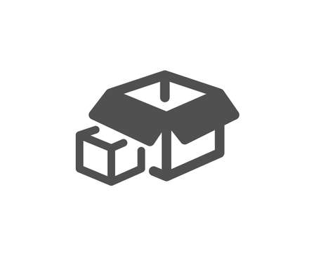 Delivery parcel sign. Box icon. Packing boxes symbol. Classic flat style. Simple packing boxes icon. Vector Illustration