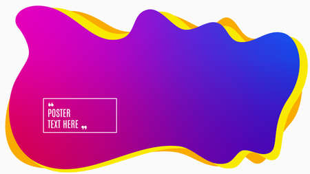 Blurred background. Geometric liquid shape. Abstract pink and blue gradient design. Dynamic shape background. Landing page blurred cover. Composition template banner. Vector Illustration