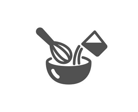 Cutlery sign. Cooking whisk icon. Food mix symbol. Classic flat style. Simple cooking whisk icon. Vector