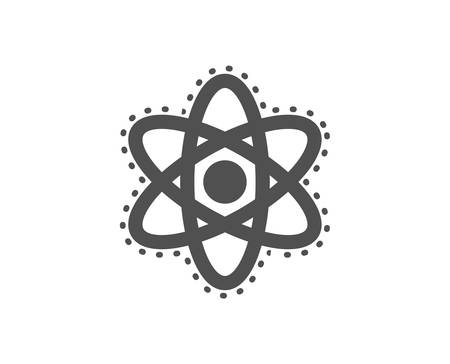Laboratory molecule sign. Chemistry atom icon. Analysis symbol. Classic flat style. Simple chemistry atom icon. Vector