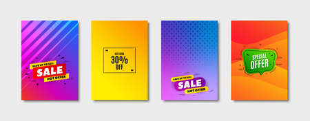 Get Extra 30% off Sale. Cover design, banner badge. Discount offer price sign. Special offer symbol. Save 30 percentages. Poster template. Sale, hot offer discount. Flyer or cover background. Vector