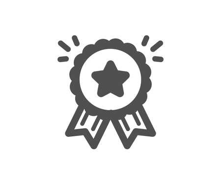 Bonus points. Loyalty award icon. Discount program symbol. Classic flat style. Simple loyalty award icon. Vector Ilustrace