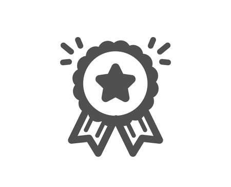 Bonus points. Loyalty award icon. Discount program symbol. Classic flat style. Simple loyalty award icon. Vector Illustration
