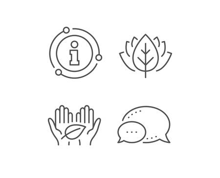 Fair trade line icon. Chat bubble, info sign elements. Bio cosmetics sign. Organic tested symbol. Linear fair trade outline icon. Information bubble. Vector Illustration