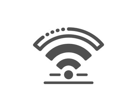 Wireless internet sign. Wifi icon. Hotel service symbol. Classic flat style. Simple wifi icon. Vector