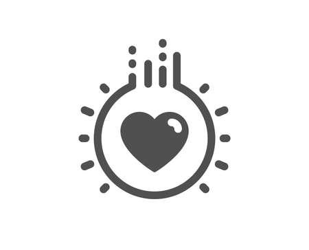 Herzzeichen. Liebessymbol. Dating-Profil-Symbol. Klassischer flacher Stil. Einfache Liebesikone. Vektor Vektorgrafik