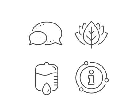 Medicine drop counter line icon. Chat bubble, info sign elements. Medical equipment sign. Linear drop counter outline icon. Information bubble. Vector Çizim