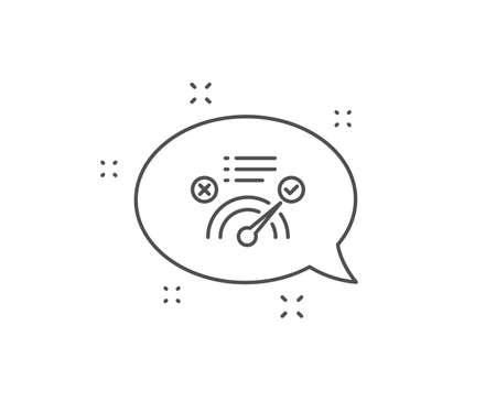 정답 라인 아이콘입니다. 채팅 거품 디자인입니다. 수락되거나 확인된 기호입니다. 승인된 기호입니다. 개요 개념입니다. 얇은 선 정답 아이콘입니다. 벡터
