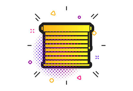Louvers sign icon. Halftone dots pattern. Window blinds or jalousie symbol. Classic flat louvers icon. Vector