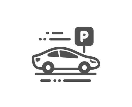 Park place sign. Car parking icon. Hotel service symbol. Classic flat style. Simple car parking icon. Vector