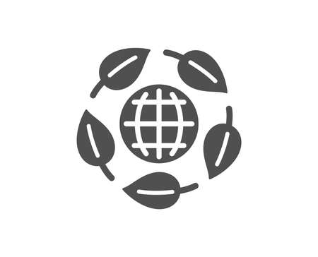 Bio cosmetics sign. Eco organic icon. Fair trade symbol. Classic flat style. Simple eco organic icon. Vector