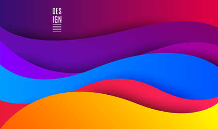Abstract waves vector background. Fluid creative template. Geometric design, liquids, shapes. Brochure dynamic banner. Gradient modern fluid pattern. Trendy vector waves background.