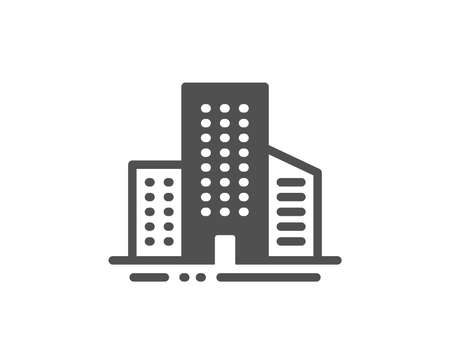 City architecture sign. Buildings icon. Skyscraper building symbol. Classic flat style. Simple buildings icon. Vector Standard-Bild - 130388162