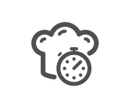 Frying stopwatch sign. Cooking timer icon. Food preparation symbol. Classic flat style. Simple cooking timer icon. Vector Illustration