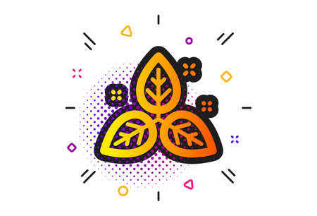 Bio cosmetics sign. Halftone circles pattern. Fair trade icon. Organic tested symbol. Classic flat fair trade icon. Vector