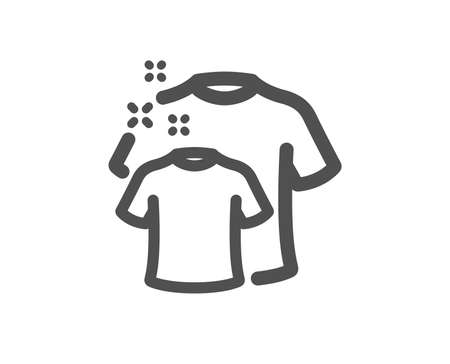 Laundry shirt sign. Clean t-shirt icon. Clothing cleaner symbol. Classic flat style. Simple clean t-shirt icon. Vector Çizim