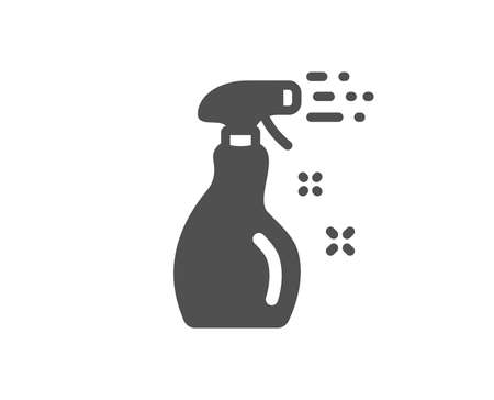 Washing liquid or Cleanser symbol. Cleaning spray icon. Housekeeping equipment sign. Classic flat style. Simple cleaning spray icon. Vector Ilustracja