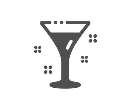 Martini drink sign. Cocktail glass icon. Hotel service symbol. Classic flat style. Simple cocktail icon. Vector