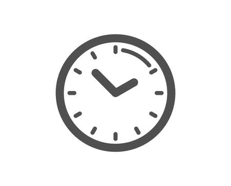 Clock sign. Time management icon. Watch symbol. Classic flat style. Simple time icon. Vector