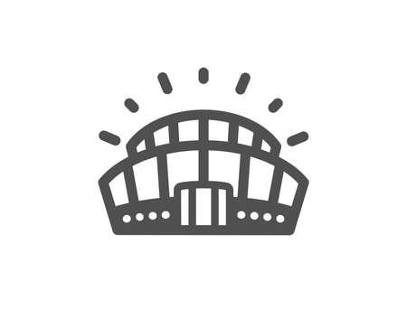 Signe de l'arène. Icône du stade de sport. Symbole du complexe sportif. Style plat classique. Icône de stade de sport simple. Vecteur