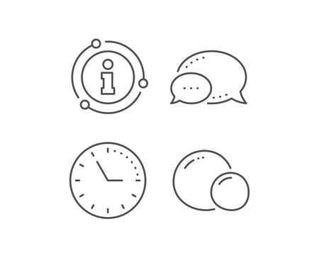 Peas line icon. Chat bubble, info sign elements. Tasty seed sign. Vegan food symbol. Linear peas outline icon. Information bubble. Vector Banque d'images - 131639388