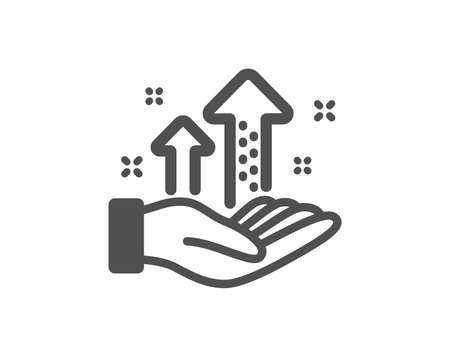 Results chart sign. Analysis graph icon. Traffic management symbol. Classic flat style. Simple analysis graph icon. Vector Illustration