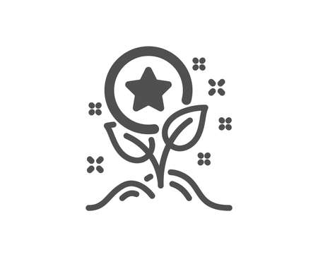 Bonus grows. Loyalty points icon. Discount program symbol. Classic flat style. Simple loyalty points icon. Vector Illustration